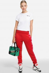 KARL LAGERFELD - SPODNIE LOGO SWEATPANTS RED