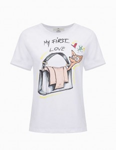 "ELISABETTA FRANCHI - T-SHIRT ""My first love"" print"