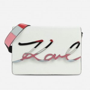 KARL LAGERFELD - TORBA Special Edition K/Signature white