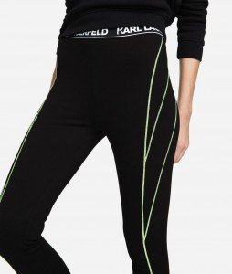 KARL LAGERFELD - SPODNIE LEGGINGS K/NEON LIGHTS
