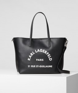 KARL LAGERFELD - TOREBKA  SHOPPER St Guillaume BLACK