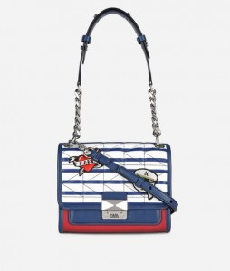 KARL LAGERFELD - TOREBKA CAPTAIN STRIP MINI
