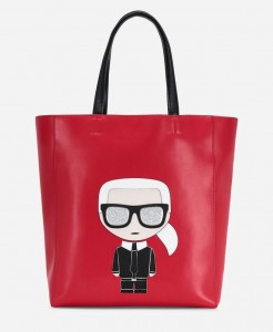 KARL LAGERFELD - TORBA K / IKONIK SOFT SHOPPER RED