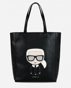 KARL LAGERFELD - TORBA K / IKONIK SOFT SHOPPER BLACK