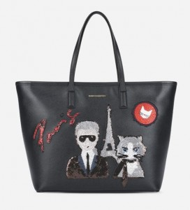 KARL LAGERFELD - TORBA SHOPPERKA CZARNA PARIS