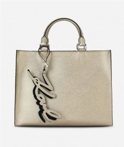 KARL LAGERFELD - METALLIC SHOPPER GOLD